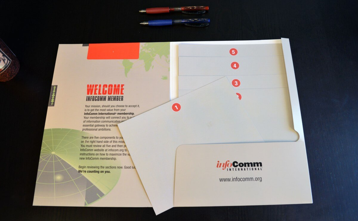 infocomm sales presentation folders