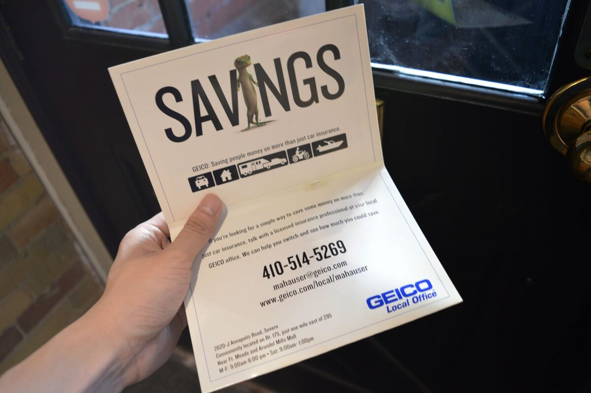 Open Customized Geico Greeting Card
