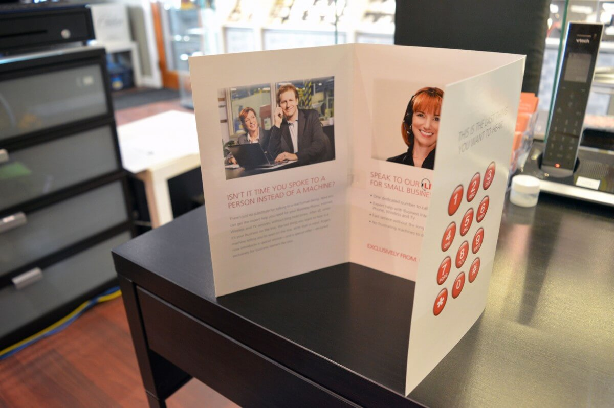 Six-Page Rogers Talking Greeting Card Inner Display
