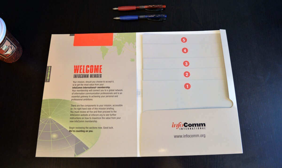 infocomm custom presentation folder