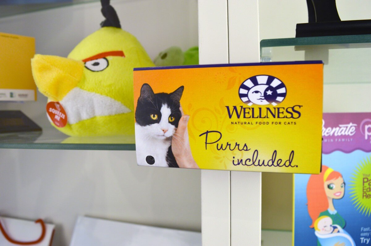Wellness motion activated shelf talker