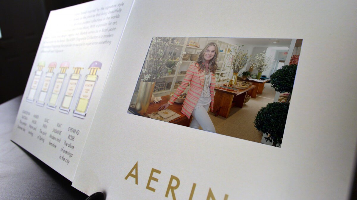 Aerin LCD video mailer