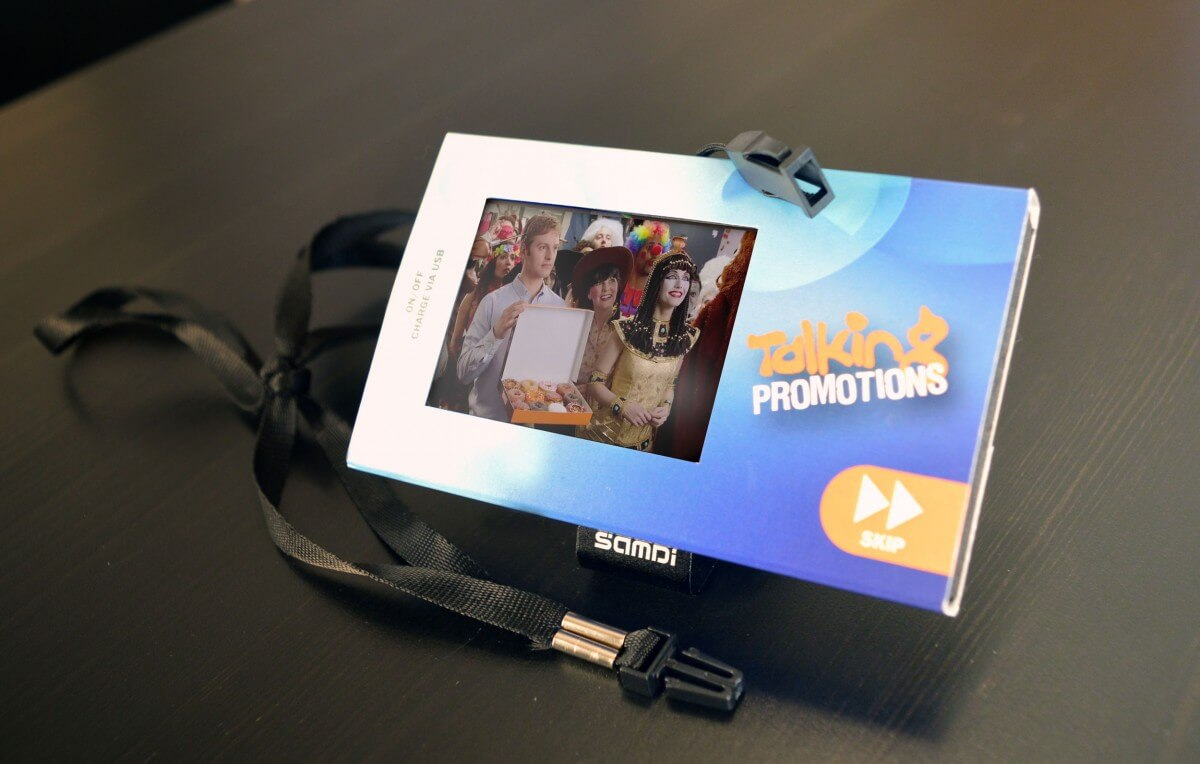 Talking Promotions LCD video player lanyard