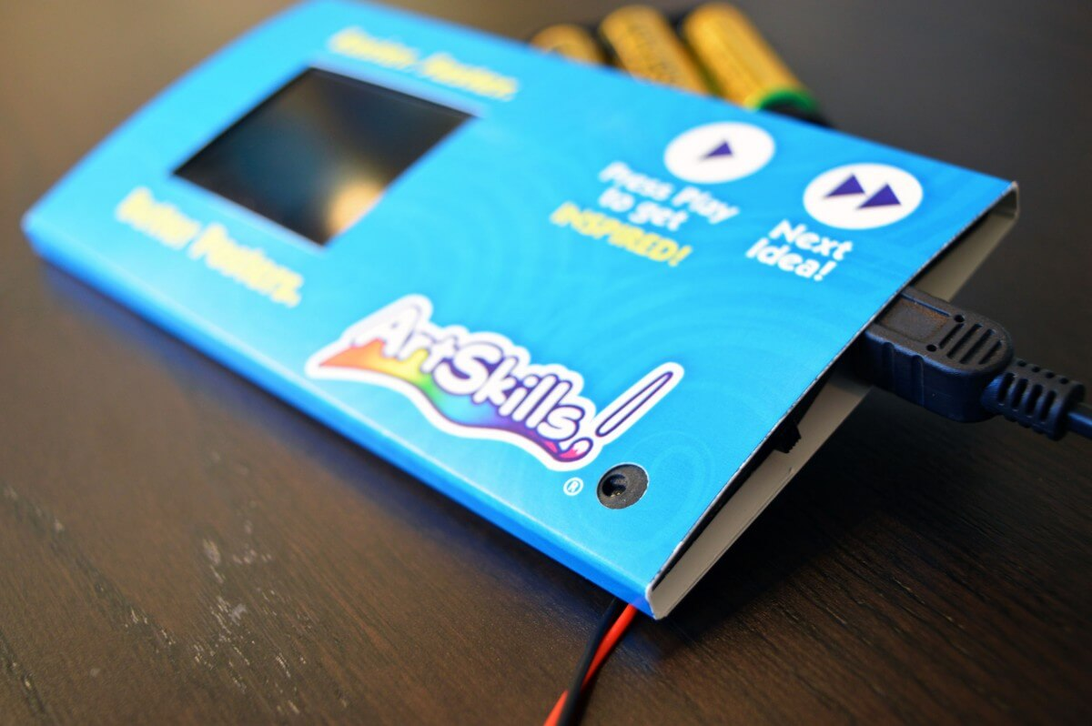 ArtSkills video shelf talker with USB charger.
