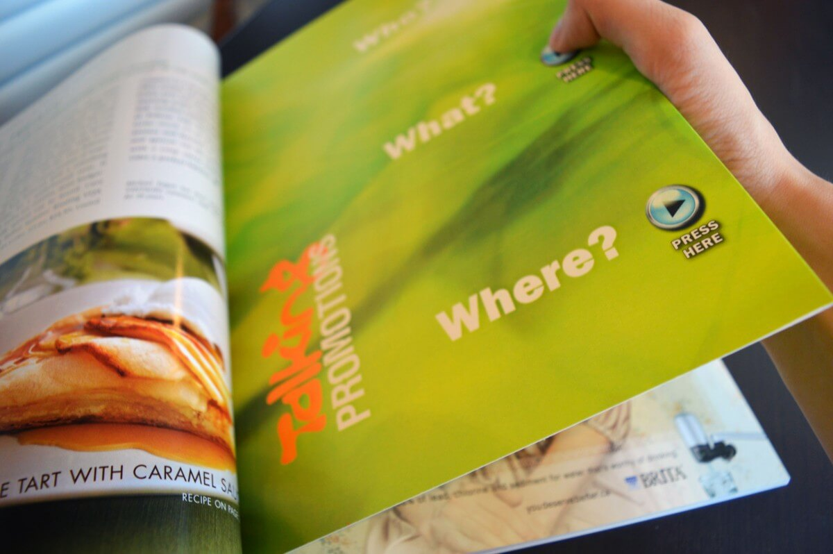 bigDAWGS custom musical magazine insert