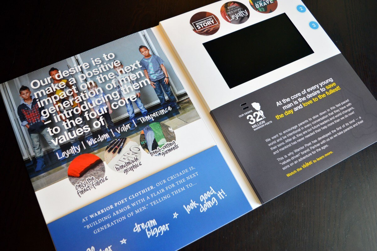 Macys video brochure card