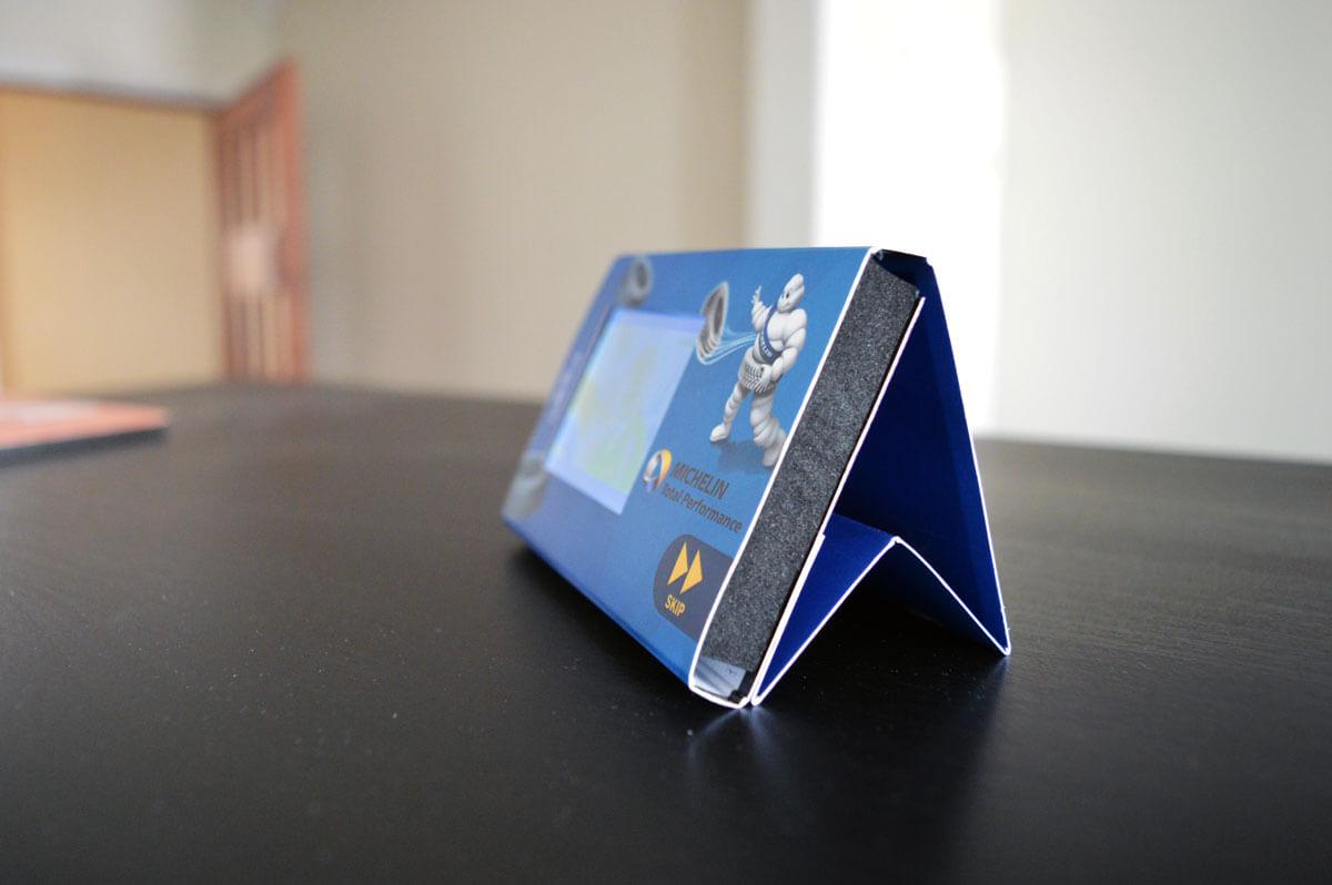 Michelin mini pos video display