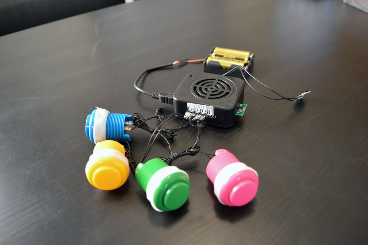 Motion activated sound box