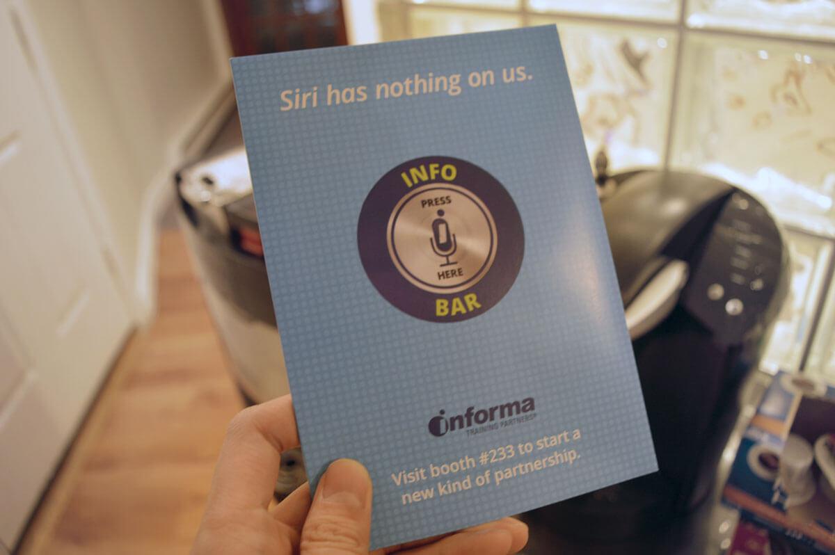 Informa custom talking postcard