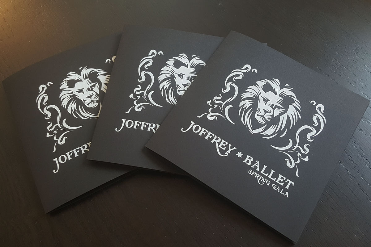 Custom talking greeting cards for Joffrey Ballet Spring Gala