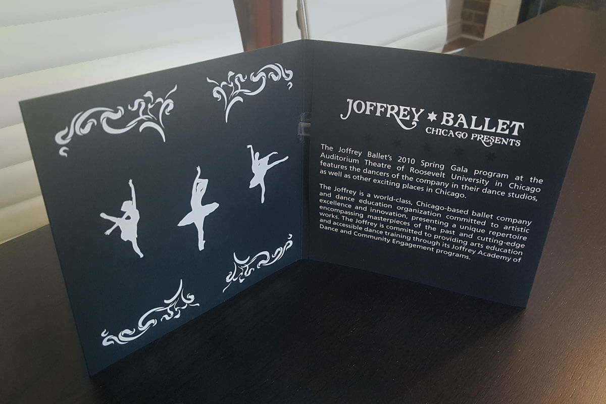 Joffrey Ballet Black Personalized Musical Greeting Cards