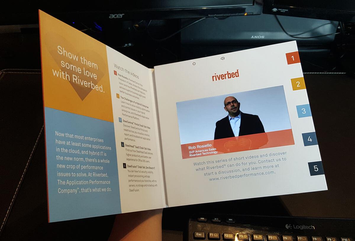 Riverbed LCD video brochure.