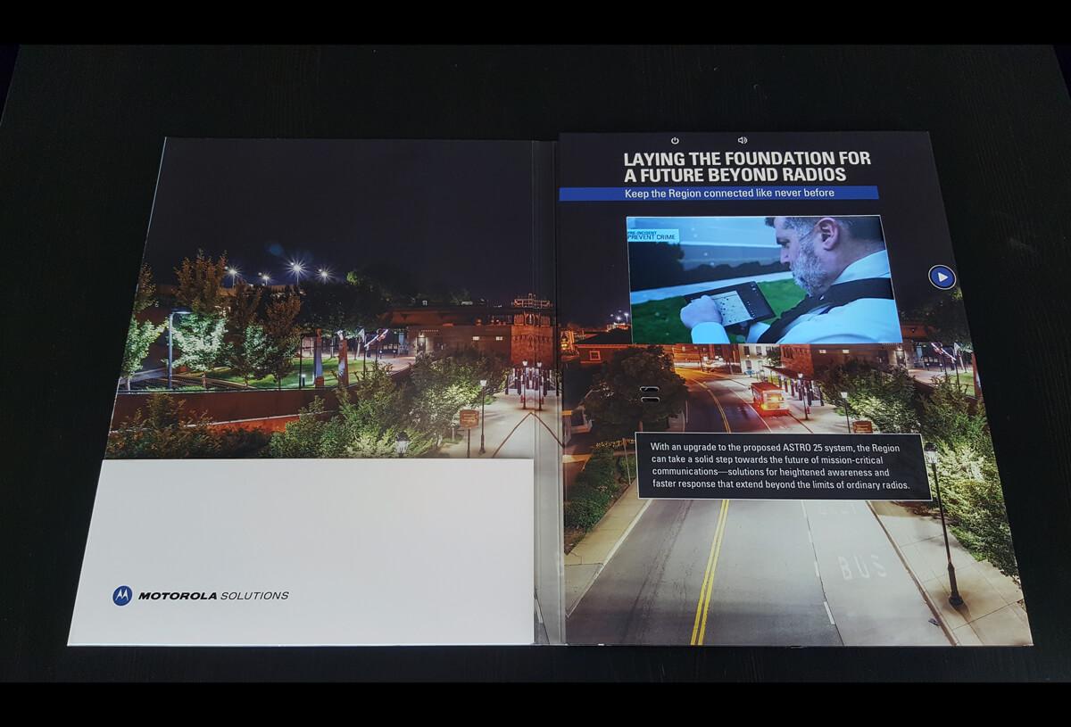 Motorola Solutions video brochure card