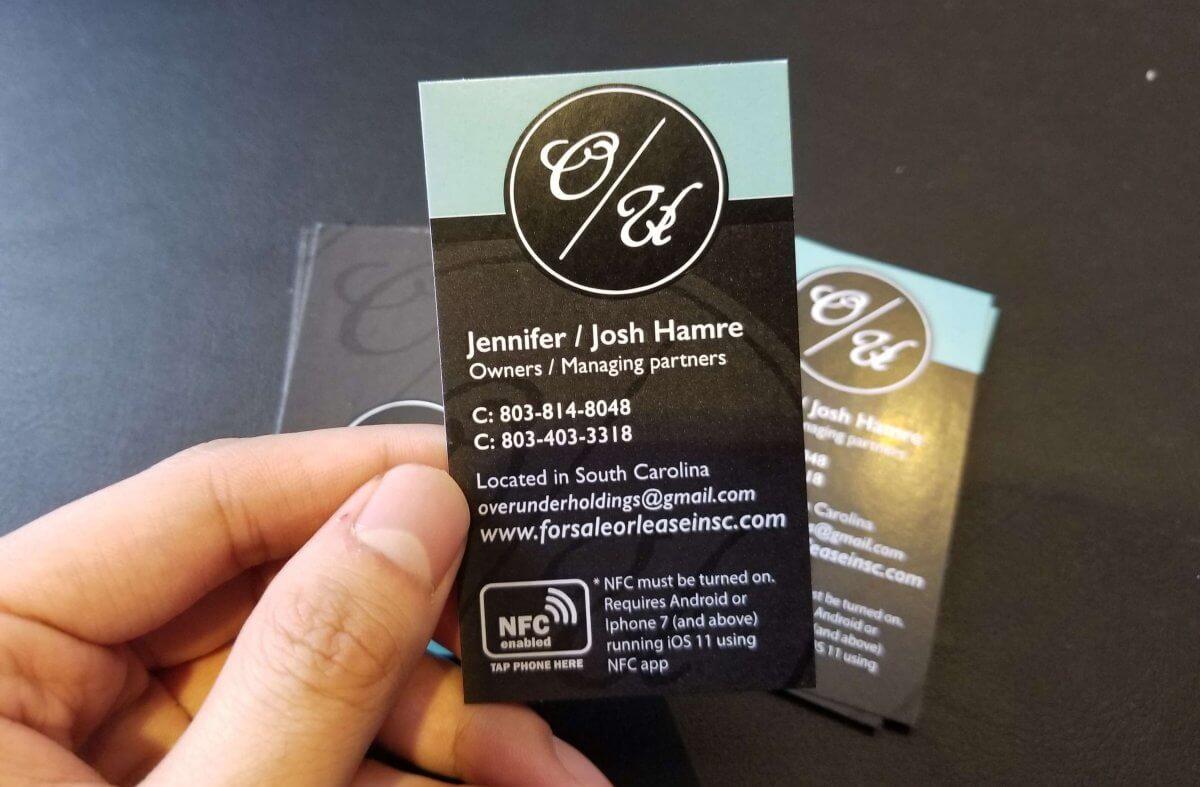 overunder holdings custom nfc business card  bigdawgs
